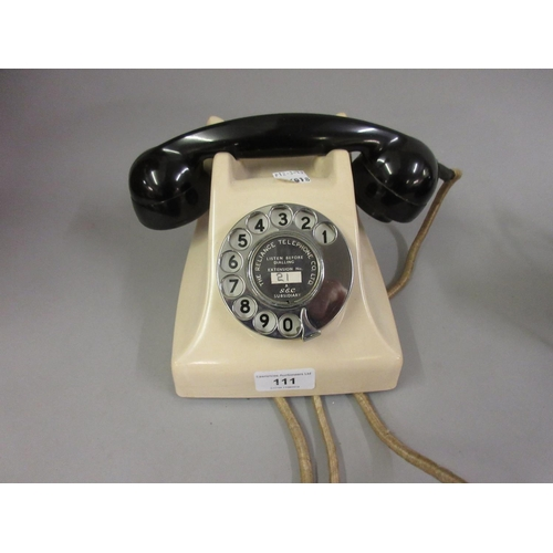 111 - 1950's G.E.C. two colour Bakelite telephone...