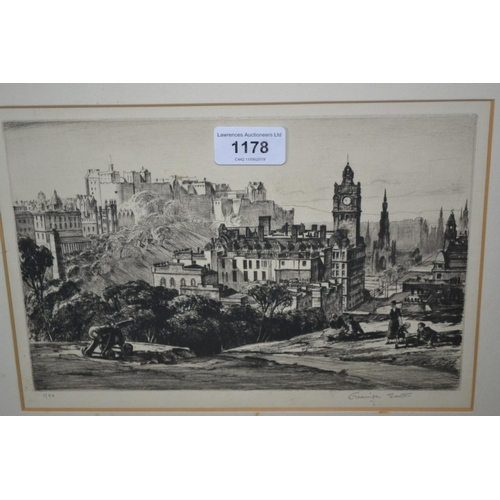 1178 - Grainger Smith, etching, Limited Edition 1 of 50 from The Carlton, Edinburgh, signed in pencil by th...