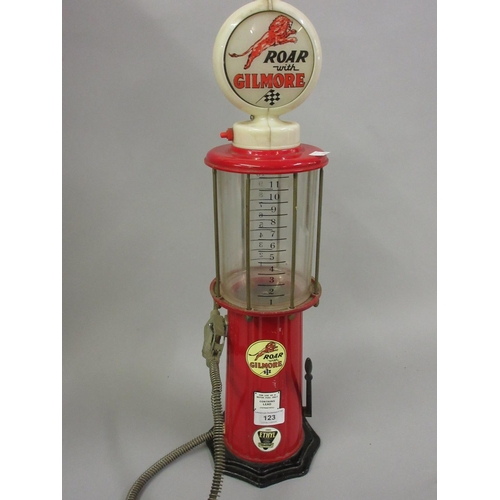 123 - Jolly Good Industries Inc. drinks dispenser in the form of a gasoline pump, marked ' Roar with Gilmo...