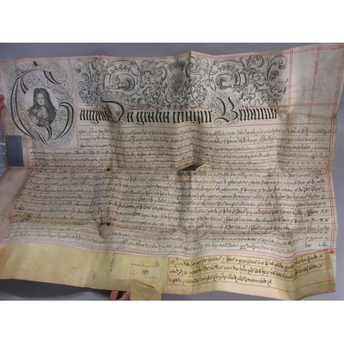 126 - Late George I vellum indenture inscribed 1726...