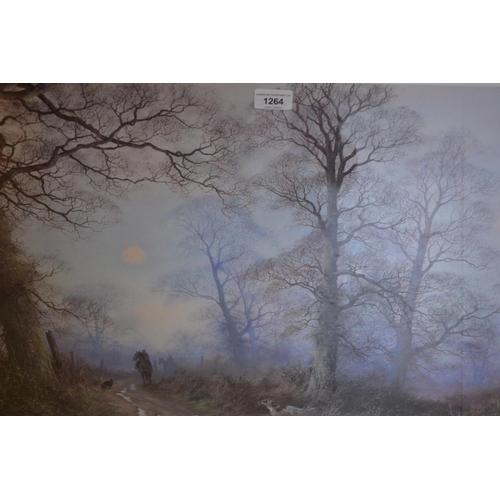 1264 - Cesar Smith, signed coloured print, bridle path, signed coloured print of gun dogs, Paul Hart, signe...