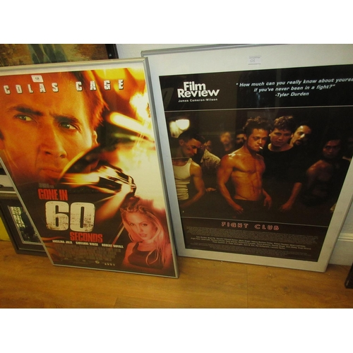 128 - Two framed cinema posters, ' Gone in 60 Seconds ' and ' Fight Club ', together with a framed Roy Lic...