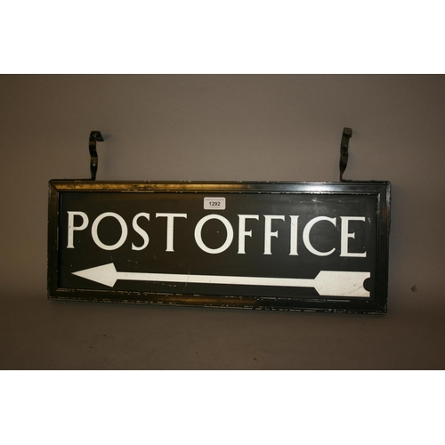 1292 - Mid 20th Century painted on metal hanging Post Office sign...