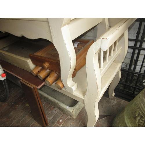 1916 - Similar Indian painted bench seat...