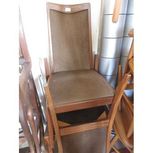 1976 - Set of four 20th Century G-plan upholstered dining chairs...