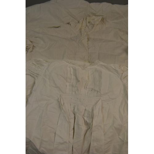 34 - Child's Christening gown together with a ladies linen nightgown...