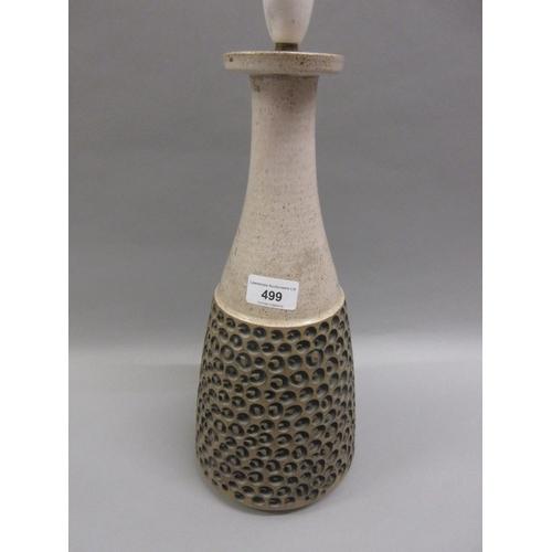 499 - Poole Pottery Atlantis pattern table lamp...