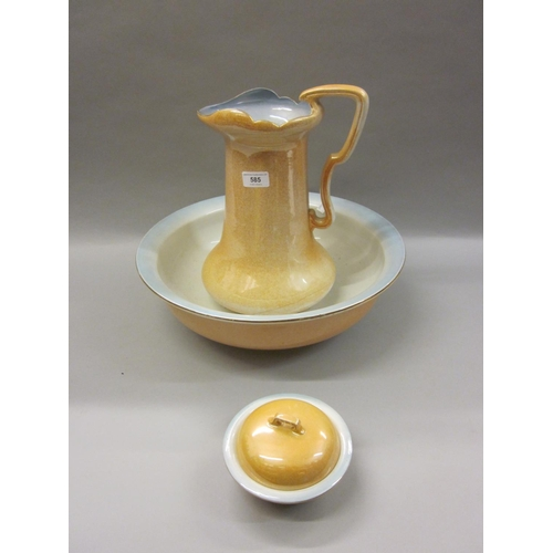 585 - Early 20th Century pottery jug and basin set...
