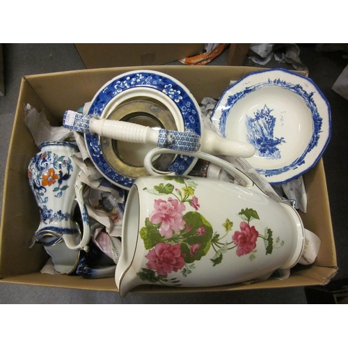 610 - Small quantity of Norfolk pattern teaware, together with a quantity of various other Victorian and l...