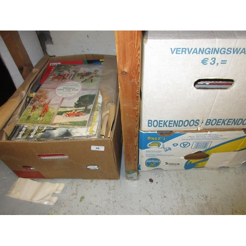 68 - Three boxes containing a quantity of antiques related ephemera...
