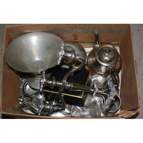 703 - Quantity of various silver plated and pewter items...