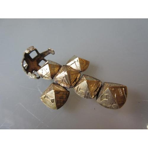914 - Silver gilt Masonic ball pendant...
