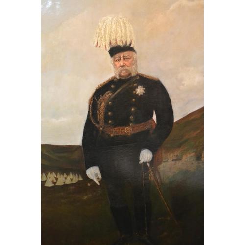 987 - Oil on canvas, portrait of the Duke of Cambridge, George Frederick William Charles, second Duke, dre...