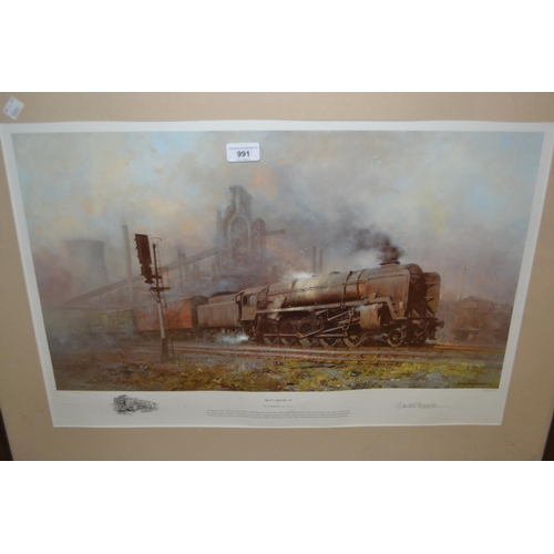 991 - David Shepherd, artist signed Limited Edition coloured print, ' Heavy Freight '67 ', 14ins x 24ins, ...