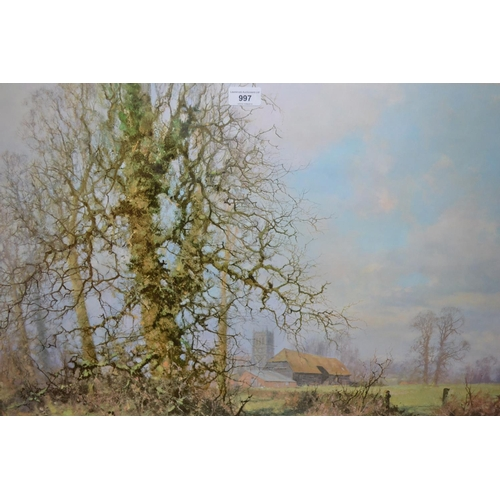 997 - David Shepherd, signed coloured print, ' This England ' together with another signed print...