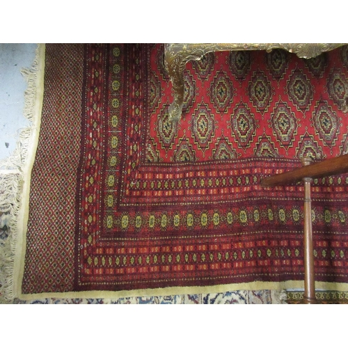 17 - Pakistan Bokhara design carpet (slight damage)...