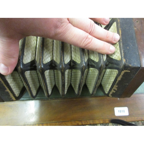 101 - 19th Century rosewood concertina (for restoration)...