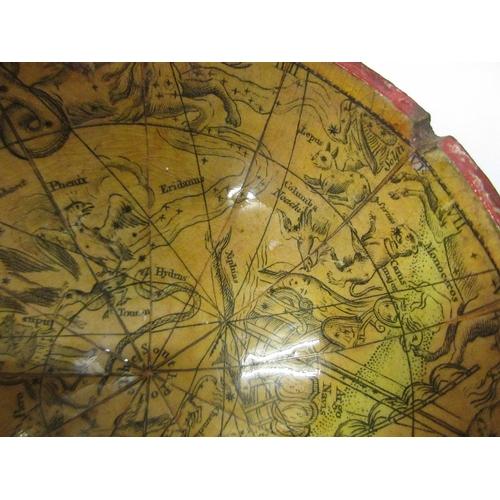 381 - Rare Dollond, London 3in terrestrial pocket globe with original shark skin case enclosing celestial ...
