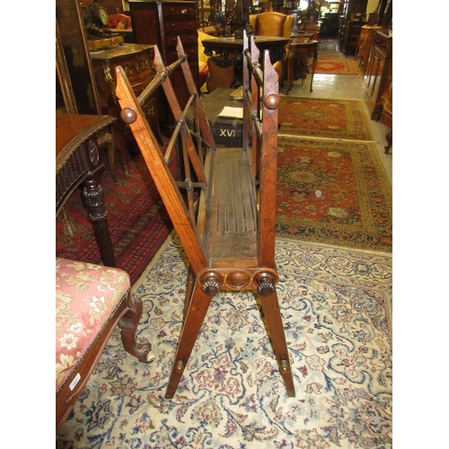 1545 - Good quality 19th Century rosewood folio stand having decorative turnings and hinged fall front with...