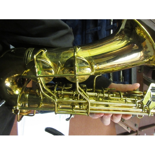 92 - Conn Alto saxophone, serial No. M272312A, in a fitted case with mouthpiece etc, together with a Sapp...
