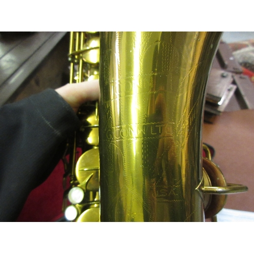 93 - Conn 10M tenor saxophone, serial No. 284608 in a fitted case with tuner, mouthpiece and strap...