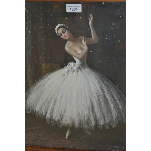 1004 - Severino Trematore, pastel study of a ballerina, dated 1937...