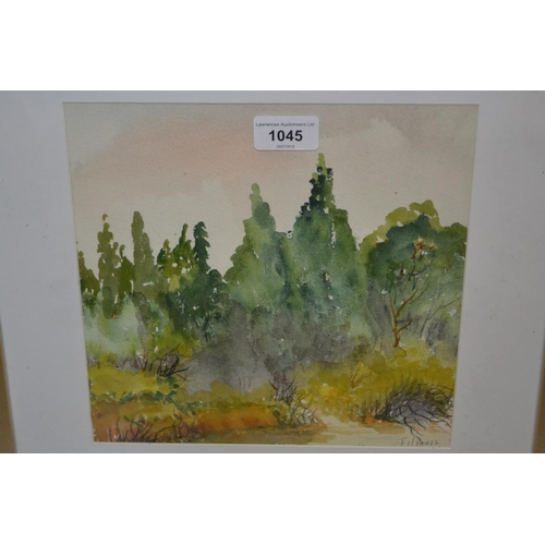 1045 - Pair of modern Australian school watercolour, landscapes, signed Filmer, together with another simil...