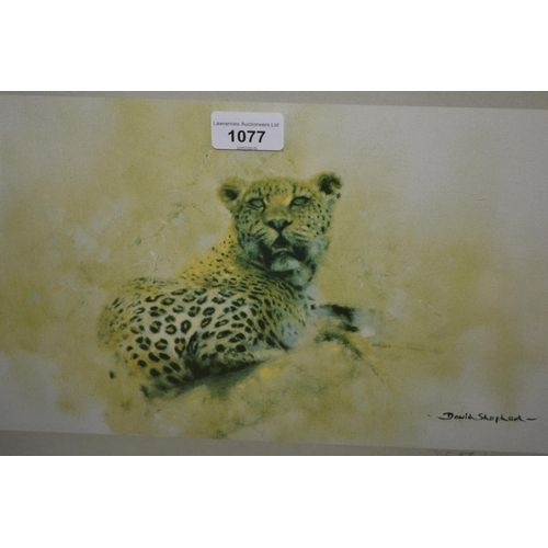 1077 - David Shepherd, ' The Big Five ', framed set of five signed coloured prints from the Folio set with ...