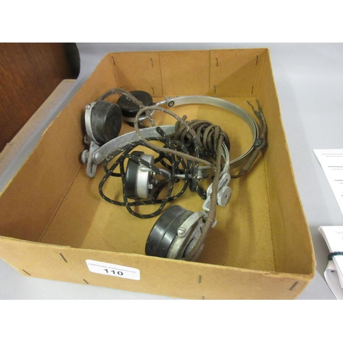 110 - Two pairs of early head phones by S.G. Brown, London...