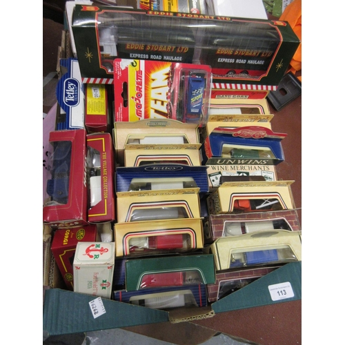 113 - Box containing a collection of modern boxed model cars...