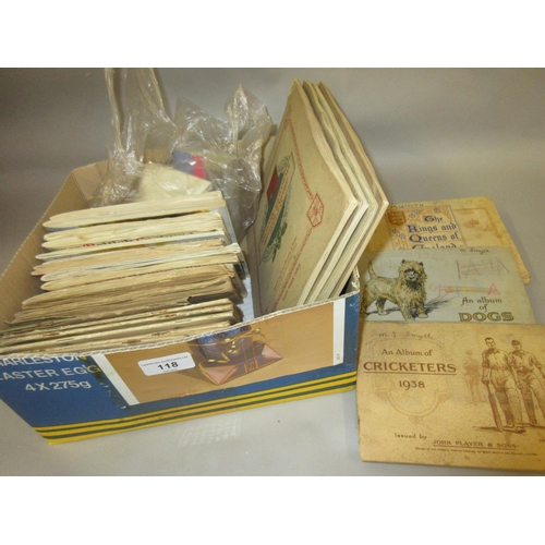 118 - Quantity of trade and cigarette cards in albums and loose including: John Player, Wills and Brooke B...