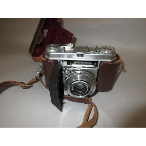 125 - Kodak Retina, model 1A camera in a leather case...