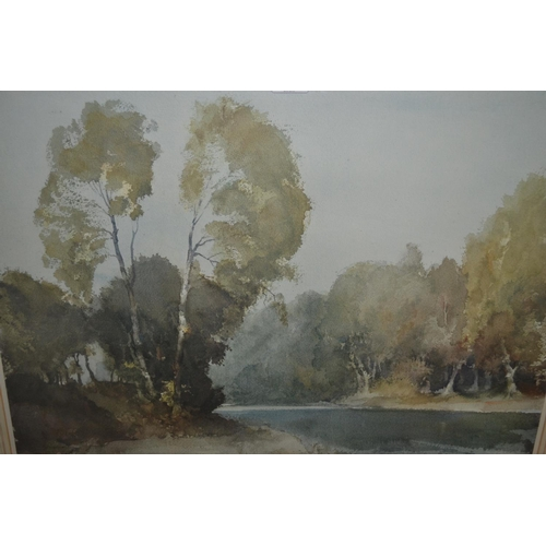 1290 - Russell Flint coloured print 'October Morning on the Boise', gilt framed, signed in pencil and beari...