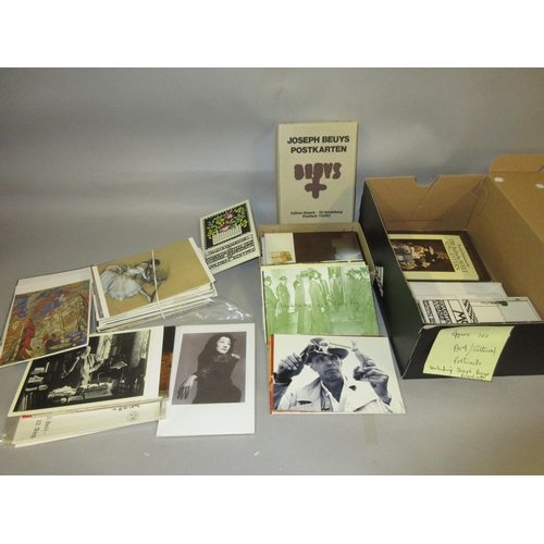 141 - Box containing a quantity of art related postcards including a box of Joseph Beuys...