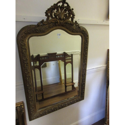 1542 - French gilded composition wall mirror...