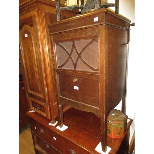 1575 - H.M.V. oak cased floor standing wind-up gramophone...