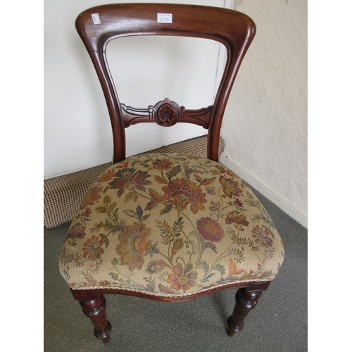1698 - Victorian side chair...
