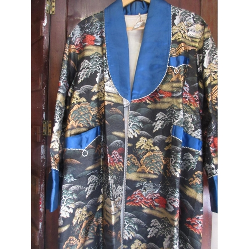 18 - Oriental silk work robe...
