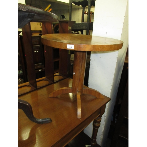 1910 - Mid 20th Century circular walnut occasional table...