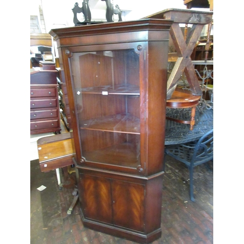 1935 - Reproduction mahogany standing corner cabinet by Rackstraw...