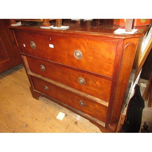 1952 - Victorian mahogany chest, the moulded top above a secretaire drawer with two further long drawers be...