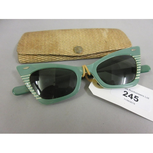 245 - Pair of 1940 / 50's ladies Ray-Ban sunglasses in Ray-Ban box...