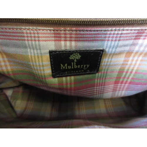 26 - Mulberry black Congo leather briefcase having detachable shoulder strap, unused condition, complete ...