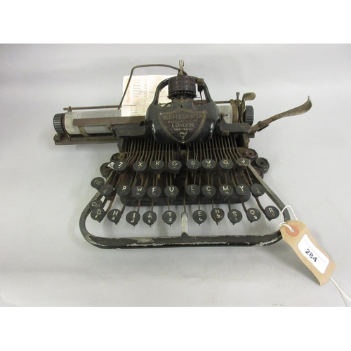 284 - American Made typewriter with plaque inscribed Blickensderfer, numbered 7...