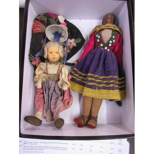 311 - Two 20th Century collectors dolls...