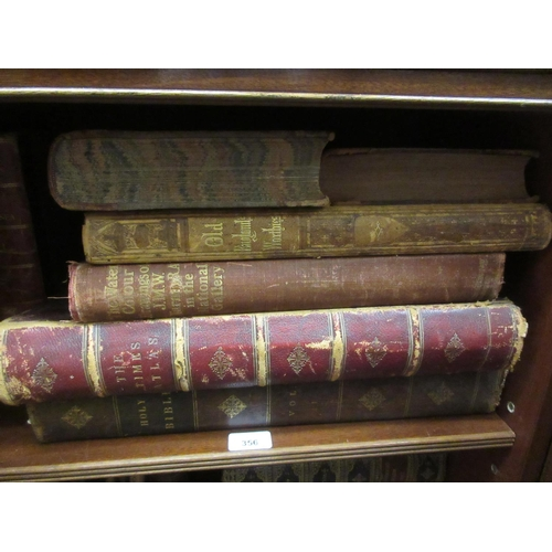 356 - ' Browns Bible ', dated 1814, together with six other various 19th Century books...