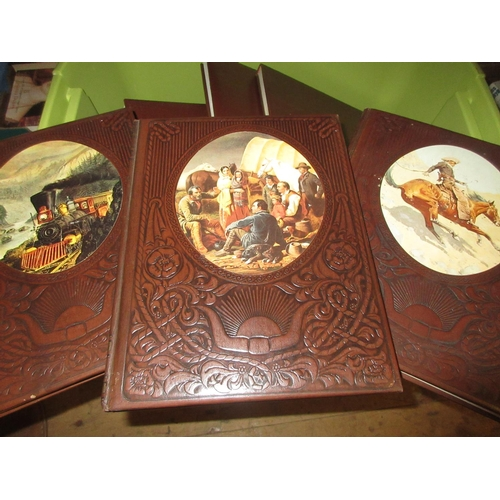361 - Twenty six volumes ' The Old West ' by Time Life Books, having simulated embossed leather bindings...