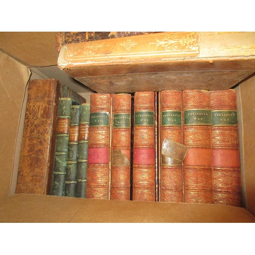 362 - Quantity of various 19th Century English and French leather bound and part leather bound books, incl...