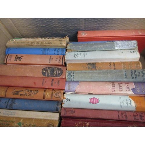 363 - Large quantity of various 19th and 20th Century books in seven boxes...