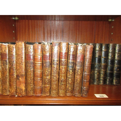 366 - Part set of Robert Browning's poetical works together with a quantity of small leather bound volumes...